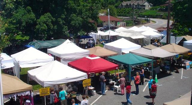 Lake Lure Arts and Crafts festival Tents